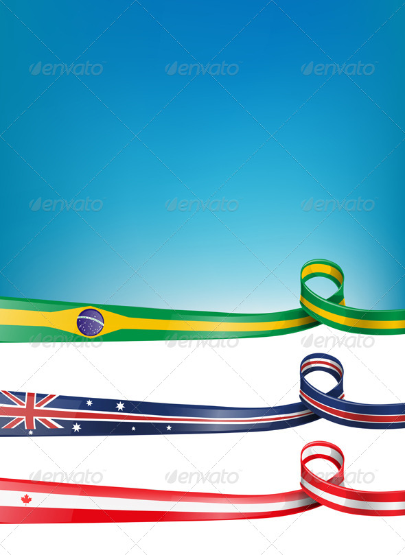 GraphicRiver Background Flag Set 6037937