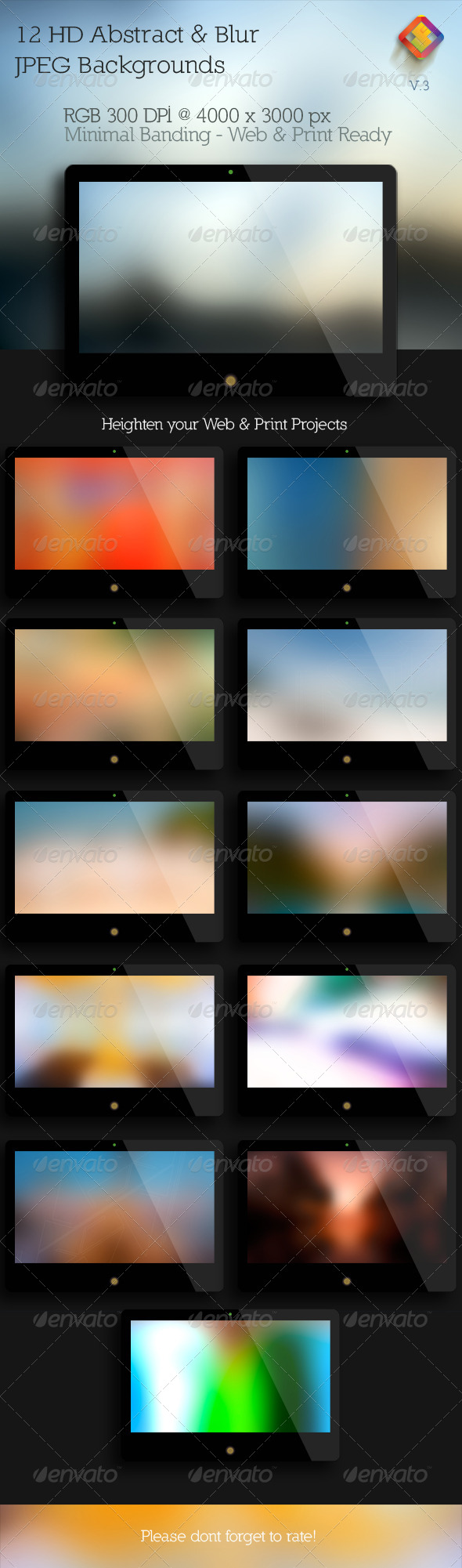Abstract & Blur Backgrounds V.3