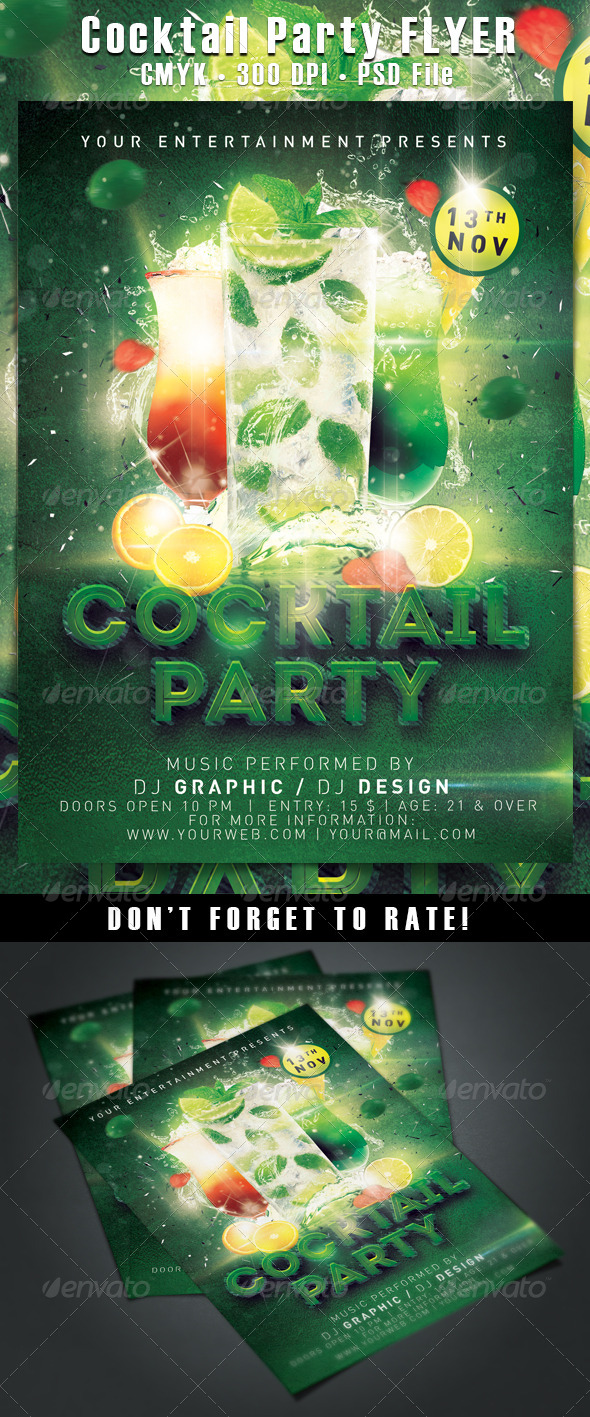GraphicRiver Cocktail Party 6038044