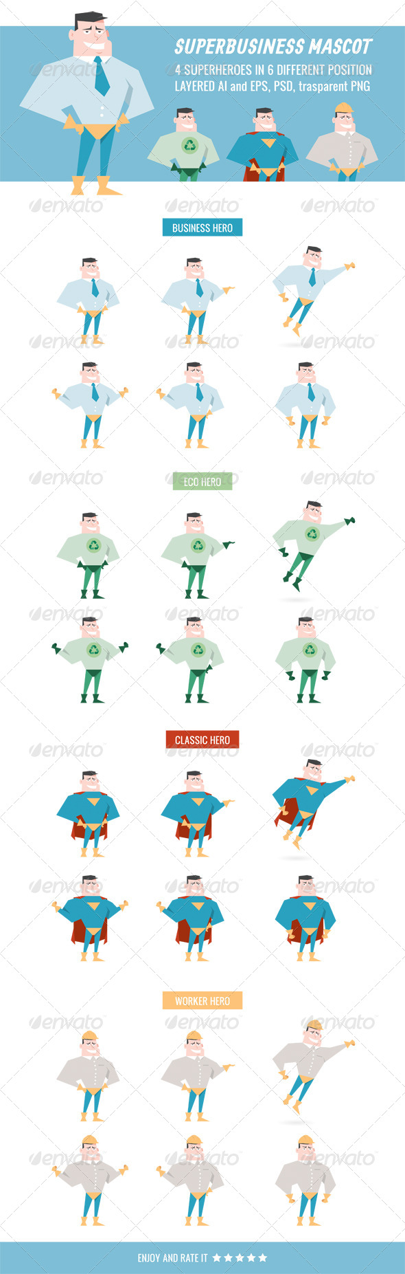 GraphicRiver Superbusiness Mascot 6038267