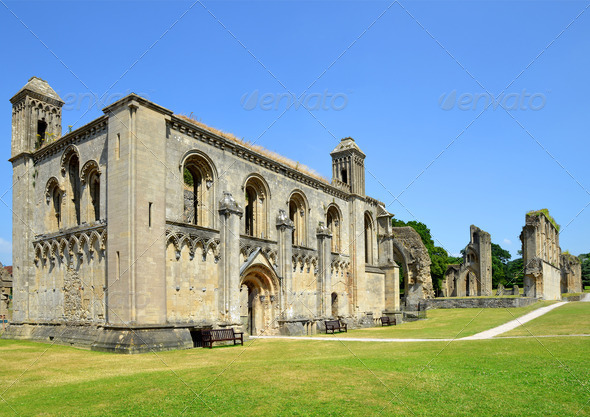 Glastonbury Abbey - Stock Photo - Images