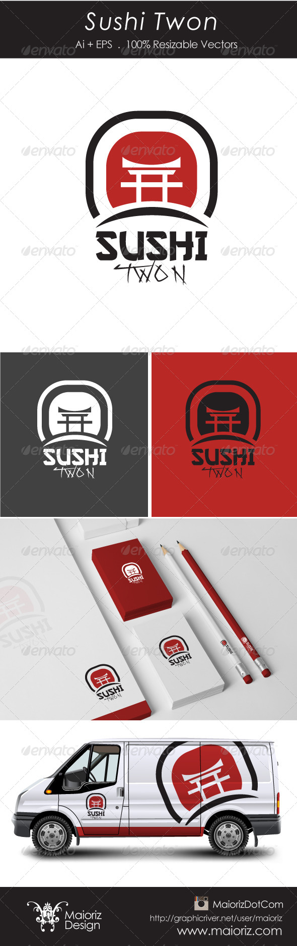 GraphicRiver Sushi Twon Logotype 6039236
