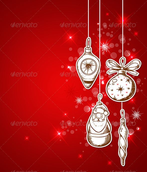 GraphicRiver Red Christmas Background 6039382