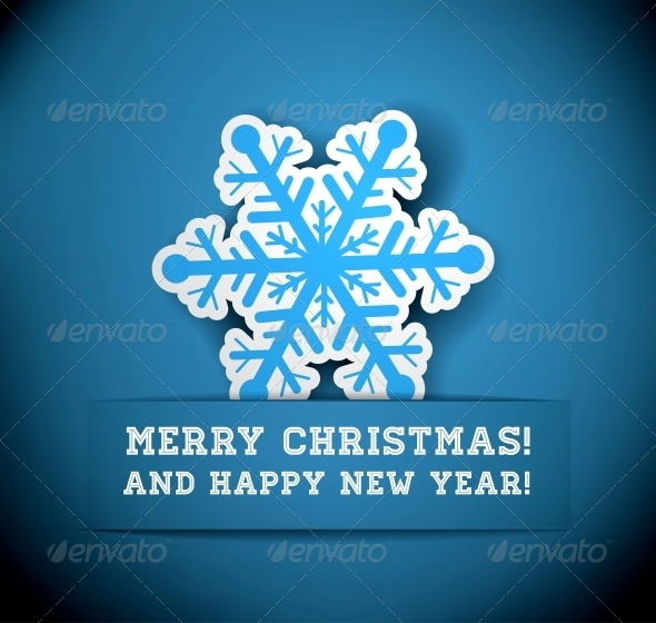 GraphicRiver Christmas Snowflake Applique 6039497