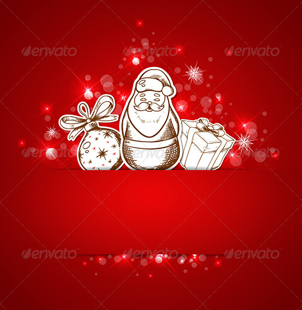 GraphicRiver Background with Santa Claus 6039568
