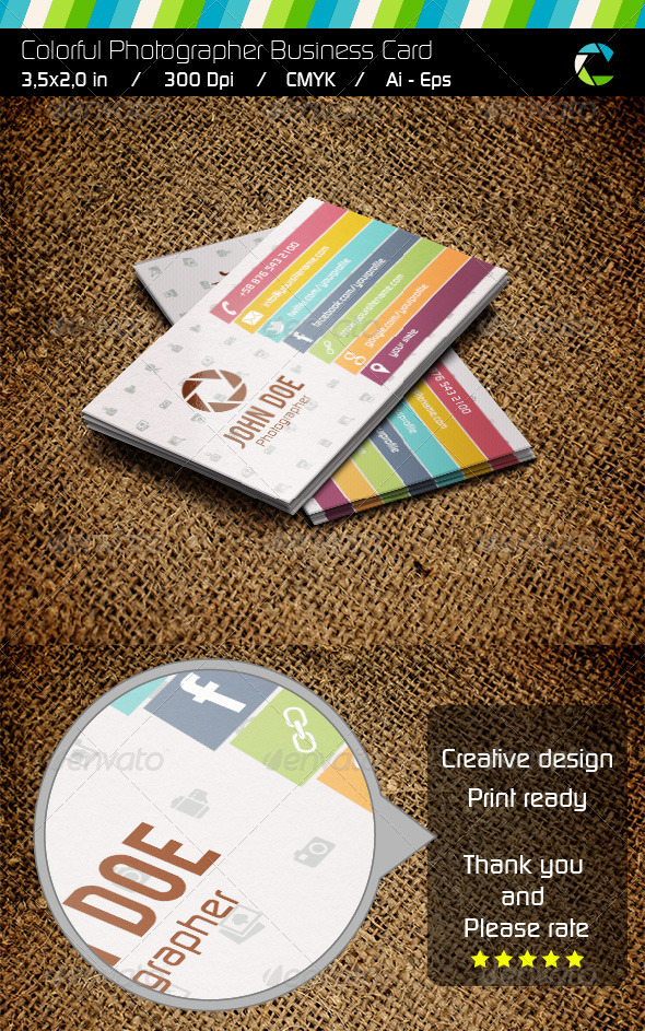 GraphicRiver Colorful Business Card 6039874