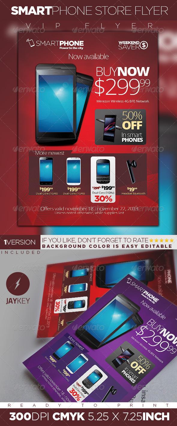 GraphicRiver Smartphone Store Flyer 6014177