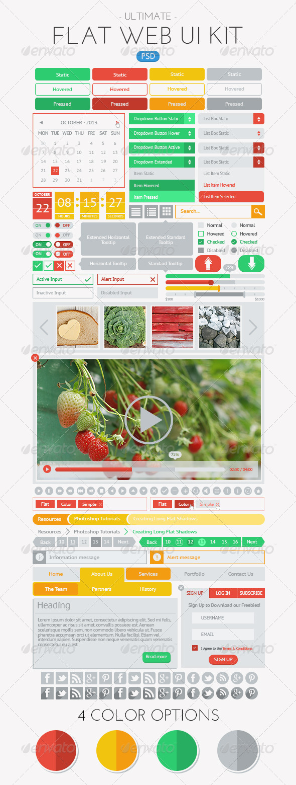 GraphicRiver Ultimate Flat Web UI Kit 6040258