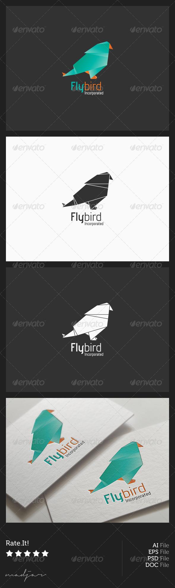 GraphicRiver Origami Bird Logo 6040288