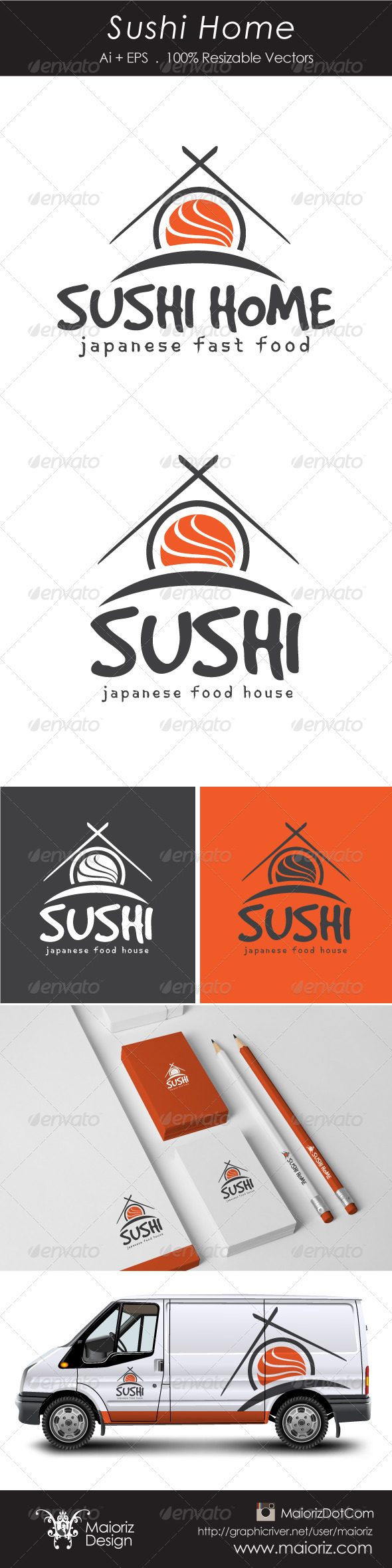 GraphicRiver Sushi Home Logotype 6040777