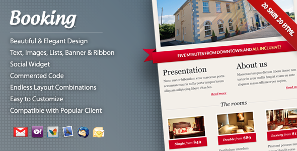 ThemeForest Booking Email Template 628624