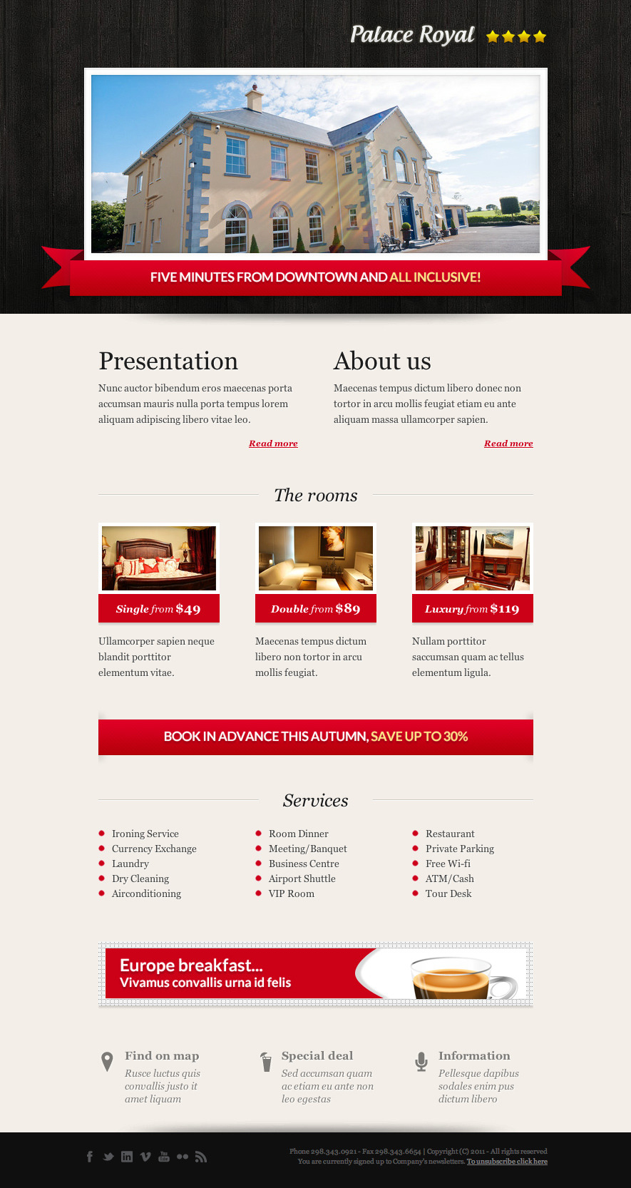 Booking Email Template