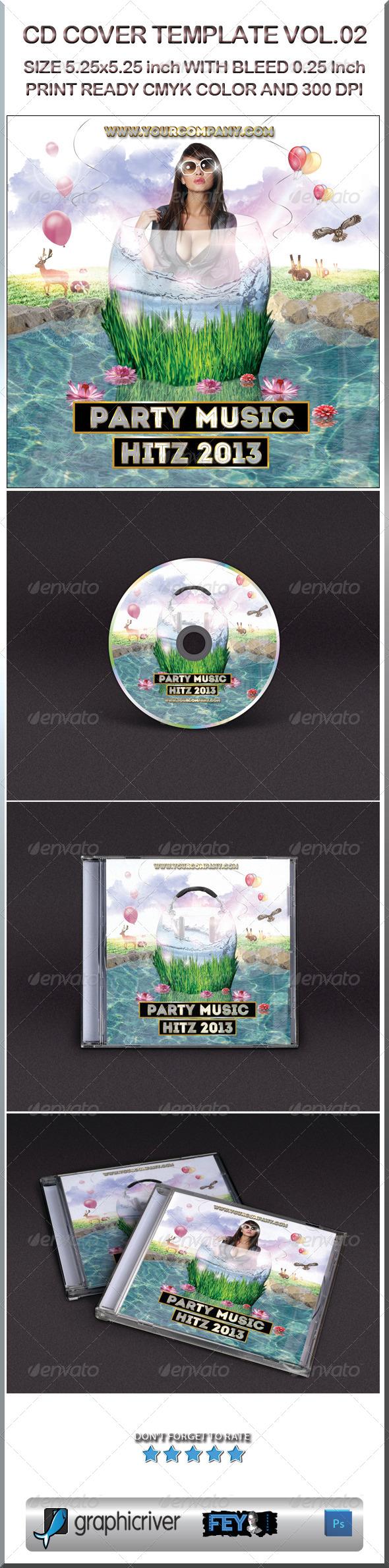 GraphicRiver CD Cover Template Vol.02 6041070