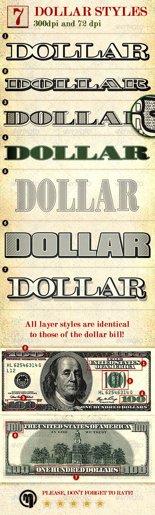 GraphicRiver Dollar Photoshop Layer Styles 6041128