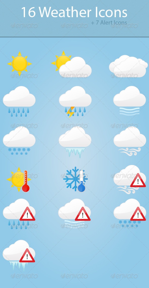 GraphicRiver Weather Icons 6041208