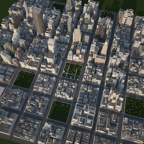 Big Realistic City - 3DOcean Item for Sale