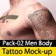 Tattoo Mock up Pack02 Men Body - GraphicRiver Item for Sale