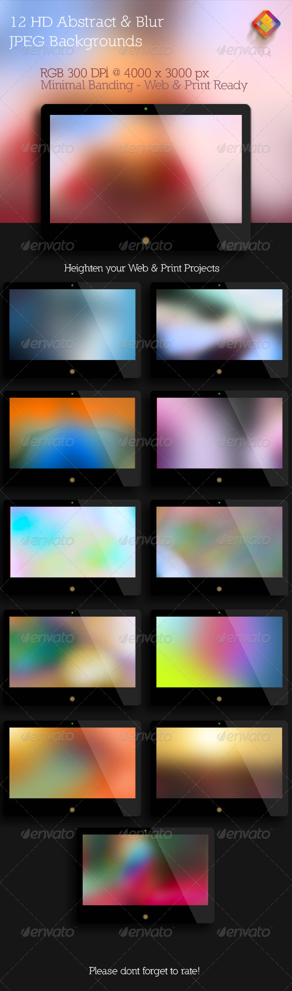 GraphicRiver Abstract and Blur Backgrounds V.4 6041249