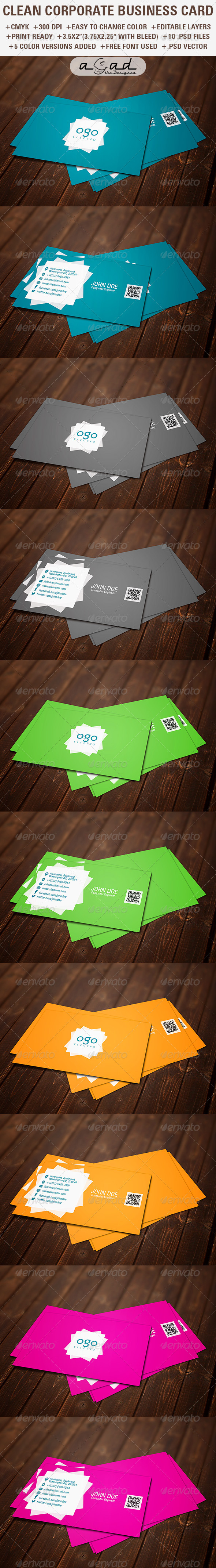 GraphicRiver CORPORATE BUSINESS CARD 6041253