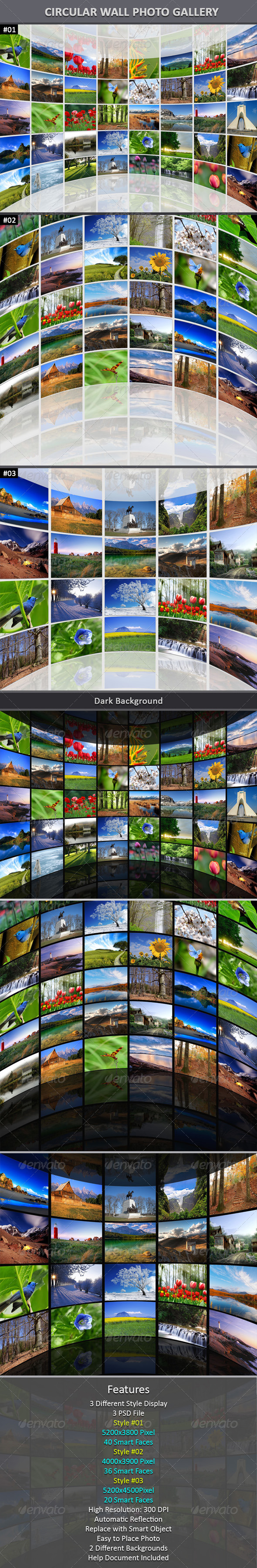 GraphicRiver Circular Wall Photo Gallery 6041480