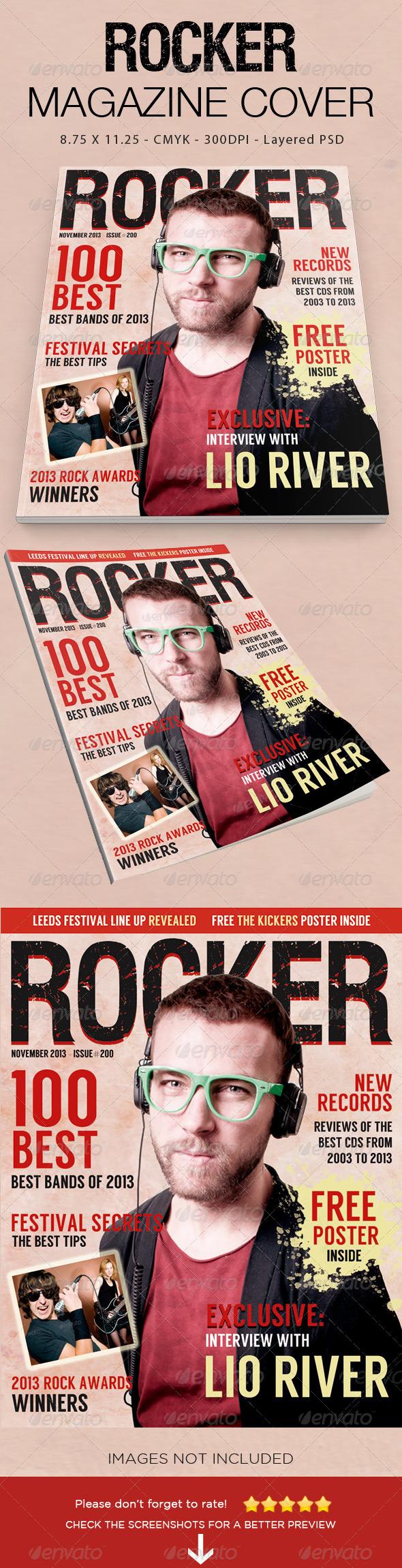 GraphicRiver Rocker Magazine Cover 6041583