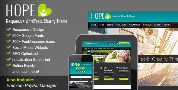 ThemeForest HOPE Responsive WordPress Charity Theme 5747208