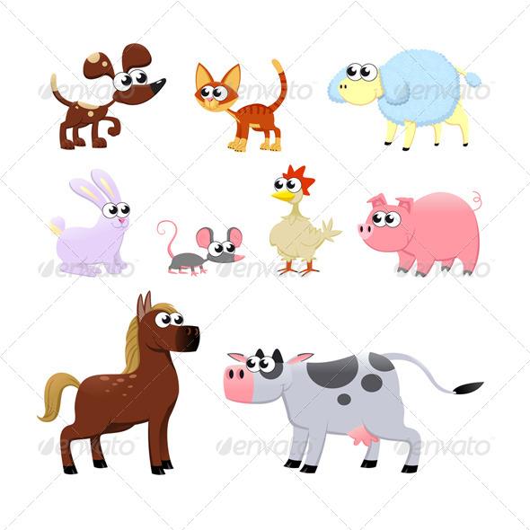 GraphicRiver Farm Animals 6041771