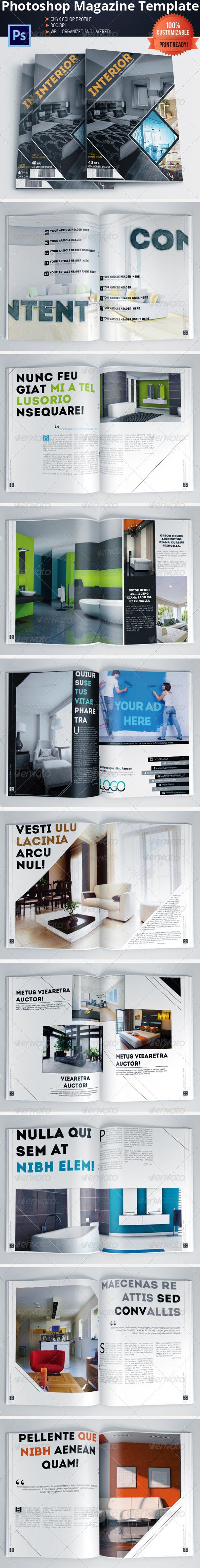GraphicRiver Architecture and Interior Design Magazine Brochure 6041774