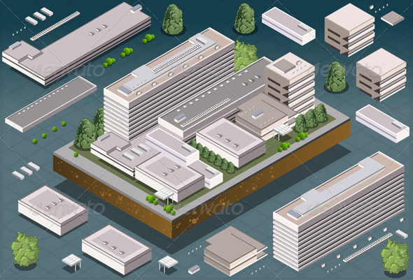 GraphicRiver Isometric Modern Building 6042010