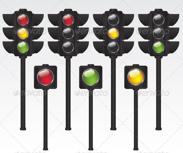 GraphicRiver Traffic Light Illustration 6042142
