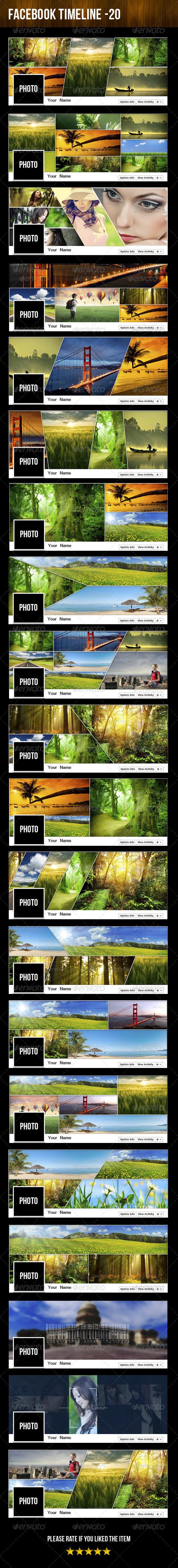 GraphicRiver 20 Facebook Timeline Mega Pack 6042170