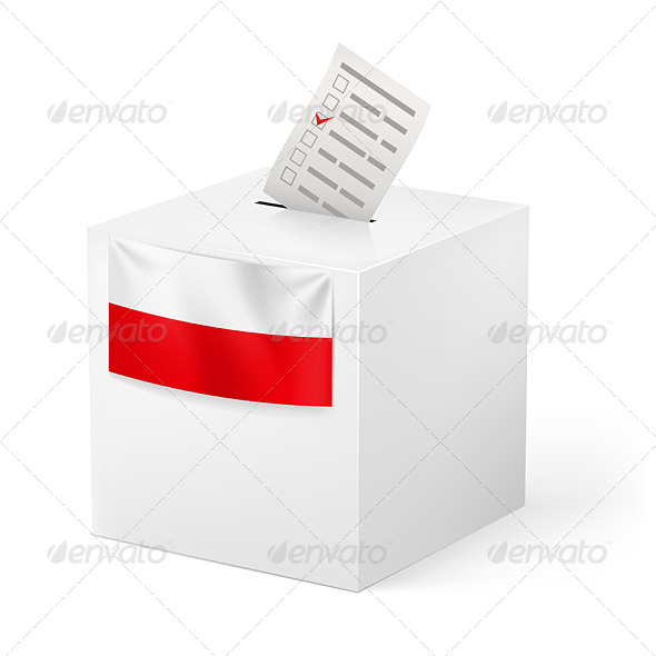 GraphicRiver Ballot Box with Voicing Paper for Poland 6042282