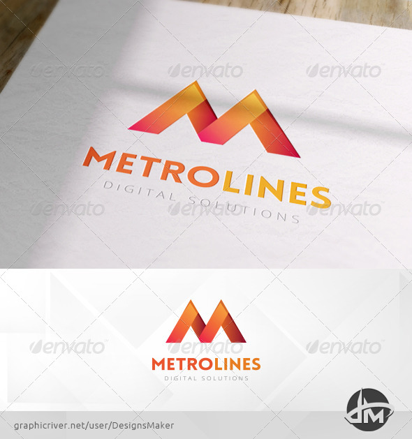 GraphicRiver Metro Lines Logo Template 6019527