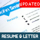 Simple and Clean Resume with Covering Letter - GraphicRiver Item for Sale