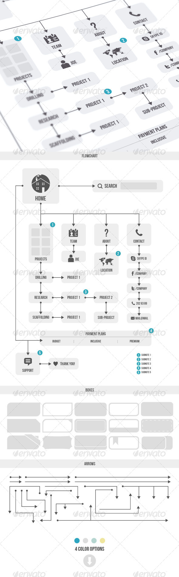 GraphicRiver Flowchart & Elements 6042719