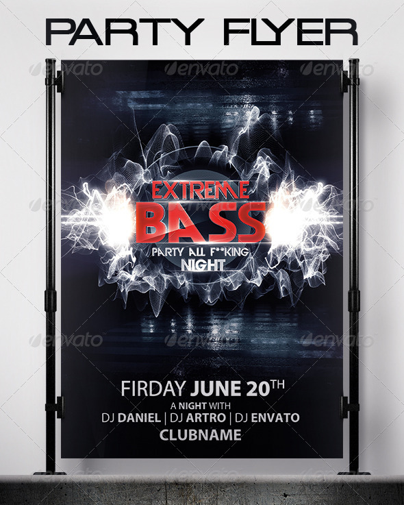 Extreme Bass Flyer - Events Flyers