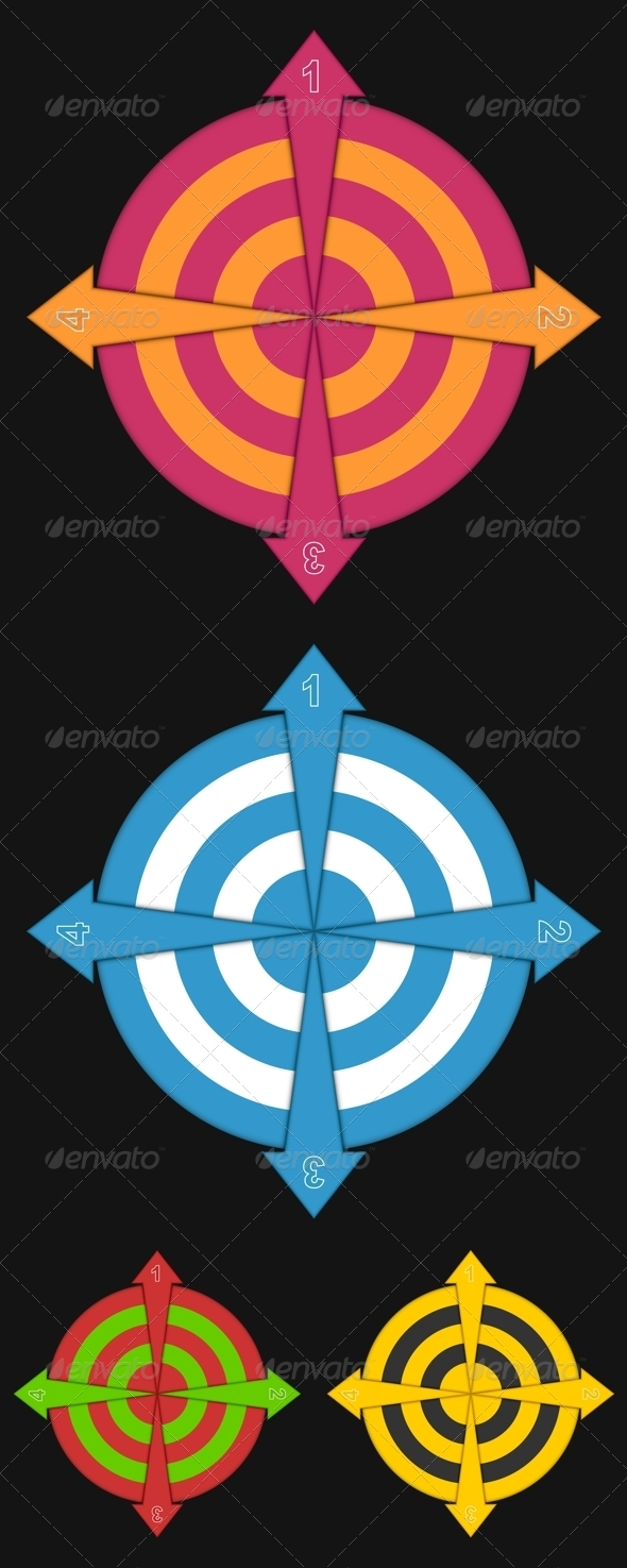 GraphicRiver Four Arrows 6042812