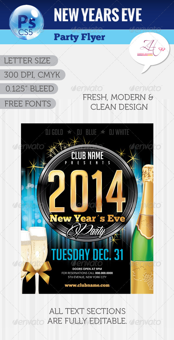 GraphicRiver NYE Party Flyer 6042849
