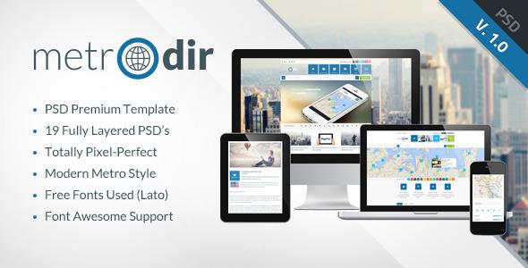 ThemeForest METRODIR Directory PSD Template 6043076