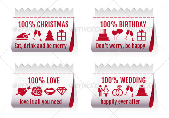 GraphicRiver Fabric Tags Textile Labels For Cards Vector Set 6043081