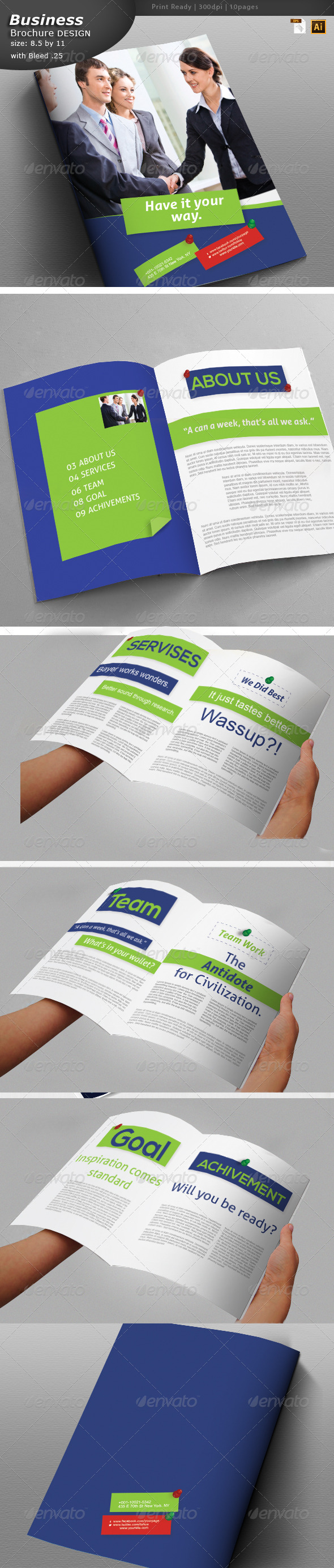 GraphicRiver Business Brochure Design 6044146