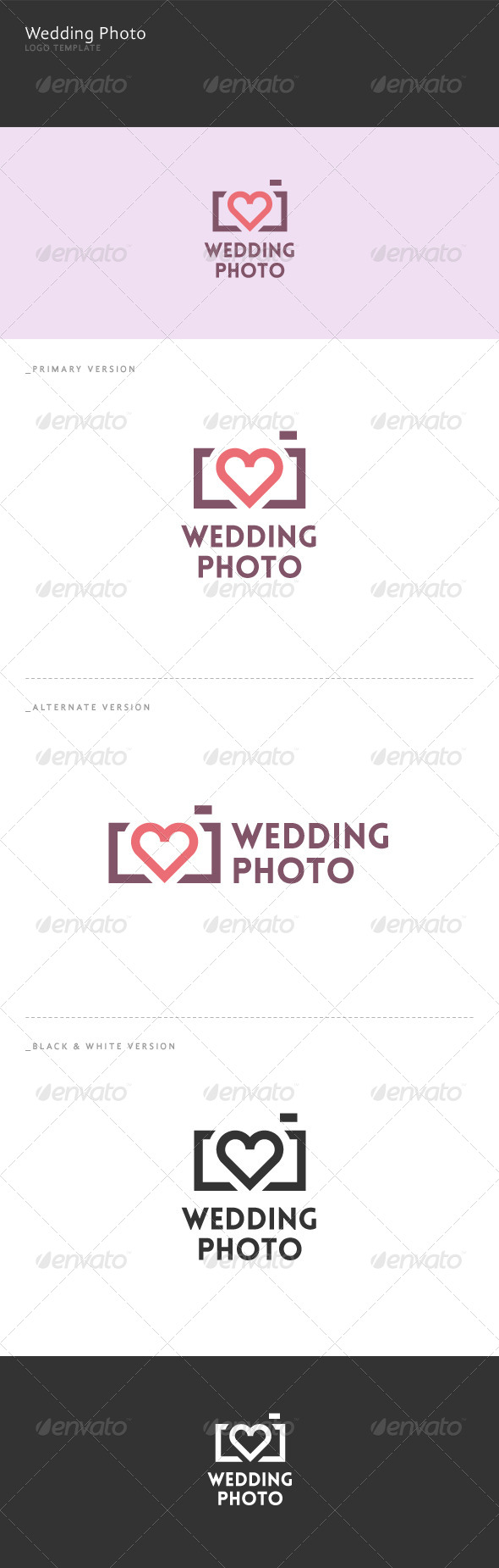 GraphicRiver Wedding Photo Logo 6044259