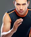 Sportive man running