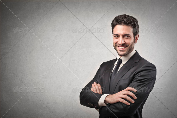 Smiling Businessman - Stock Photo - Images