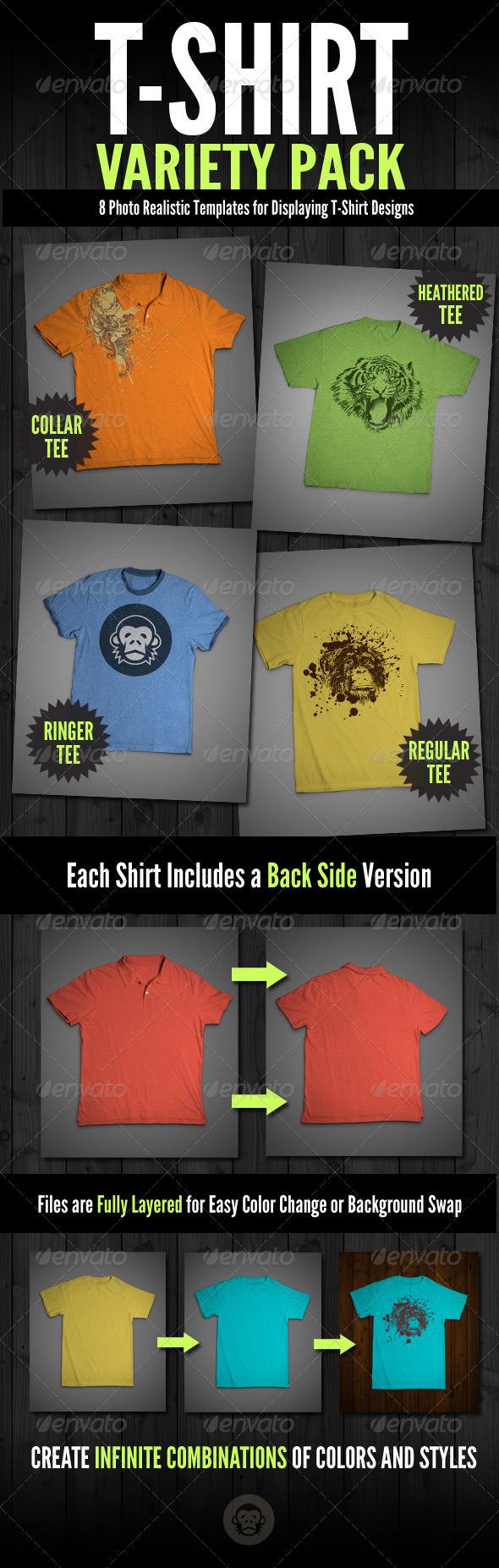 T-Shirt Mock-Ups Variety Pack
