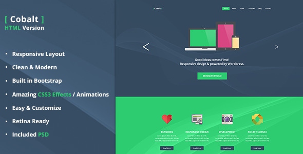 Cobalt - One Page Template