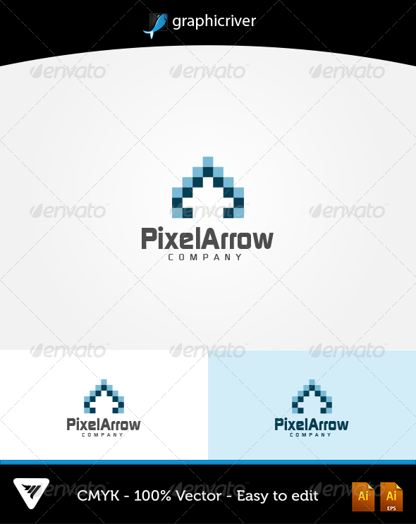 GraphicRiver PixelArrow Logo 6044478