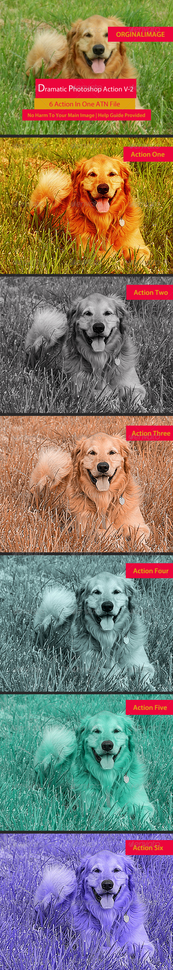 GraphicRiver 6 Photoshop Action Set Two 6044663