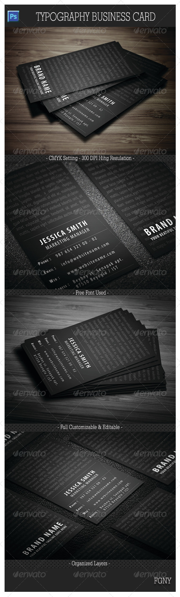 GraphicRiver Typography Business Card 6033618