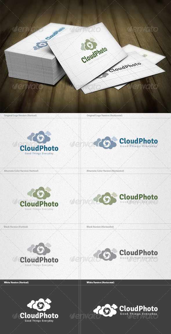 GraphicRiver Cloud Photo Logo 6044765